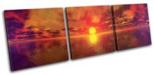 Panoramic Sunset Seascape - 13-0877(00B)-TR31-LO
